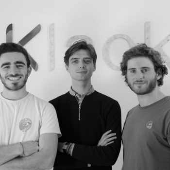 Les co-fondateurs de Klack, Jeremy Lazimi, Maxime Weinstein et Augustin Wolff