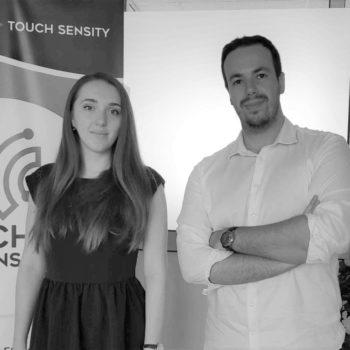Mehdi Elhafed et Ganna Pugach, co-fondateurs de Touch Sensity