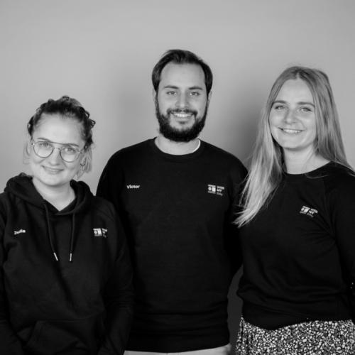 Julia Lumbroso, Victor Vallet et Léopoldine Koechlin, fondateurs de WebMyDay