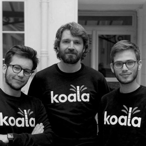 Les co-fondateurs de Koala, avec, sur la droite, Ugo Weyl